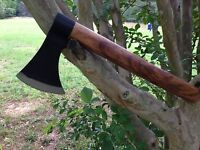 NEW AMERICAN TOMAHAWK BLACK AXE WOODEN HANDLE Early Vintage HATCHET AXE