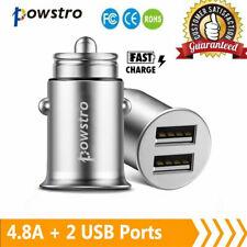 Auto Zigarettenanzünder 2 USB schnell Ladegerät KFZ Ladeadapter Handy Lader 4.8A