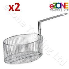 2x forme ovale friture Panier adapté pour Valentine Pension P1 électrique P2 friteuses