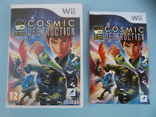COSMIC DESTRUCTION BEN 10  complet de sa notice WII