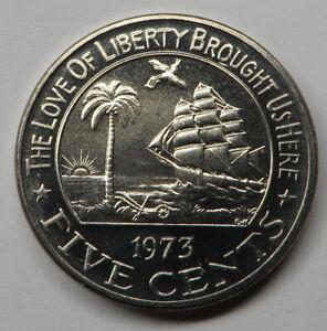 Liberia 5 Cents 1973 Proof Copper-Nickel KM#14 Proof