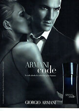 Publicité advertising 118  2010   parfum  homme Armani Code  Giorgio Armani
