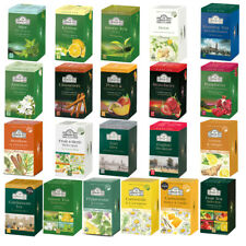 Ahmad Tea 20 Foil-Enveloped Teabags Collections Various Flavours Selections Pack