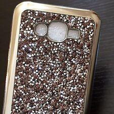 Samsung Galaxy J7 2015 - Obsidian Diamond Stud TPU Rubber Gummy Skin Case Cover