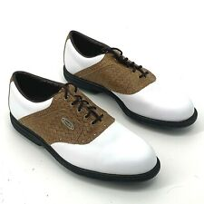 New listing Footjoy eComfort Golf Shoes Woven Saddle Oxfords White Mens 57752 Size 10.5M
