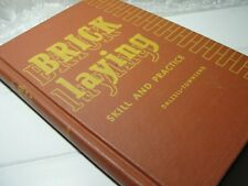 Brick Laying Skill and Practice Dalzell Townsend 1968 hardcover