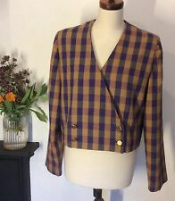 VINTAGE BOX JACKET 1980s HAND TAYLORED APPROX UK 16 FANCY DRESS ⭐️REDUCED PRICE