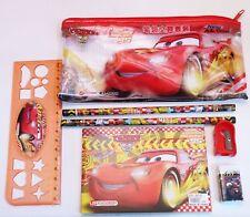 Filled Pencil Case Ruler Sharpener Kids School Stationery Set Hello Cars
