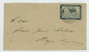 Mr Fancy Cancel PUERTO RICO 133 COVER 19 NOV 1893 DCD USED ONLY ONE DAY COLUMBUS