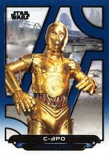 Star Wars Galactic Files (2018) BLUE PARALLEL BASE Card ESB-22 / C-3PO