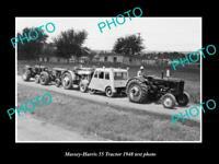 OLD 8x6 HISTORIC PHOTO OF MASSEY HARRIS 55 RT TRACTOR 1948 TEST PHOTO 1
