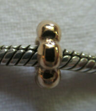 14K SOLID GOLD PANDORA RAISED DOT HALO  BEAD CHARM SPACER 750224