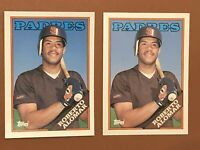 1988 Topps Traded Roberto Alomar Lot Of 2 Rookie Cards #4T - MINT - Padres HOF