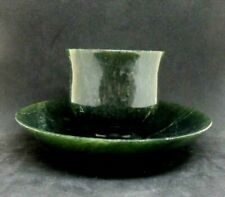 Antique collectible Chinese Jade Cup and Saucer