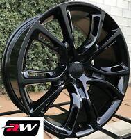 "20"" inch Jeep Grand Cherokee Wheels SRT8 Spider Monkey 20x10"" Gloss Black Rims"