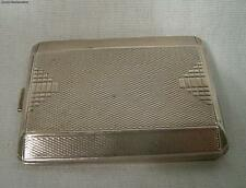 Antique Art Deco English London 1914 Sterling Silver Match Safe