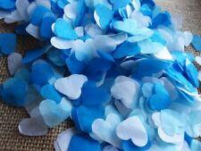 1400 confettis coeur blanc bleu ciel/pétrole Mariage Baby-shower Anniversaire