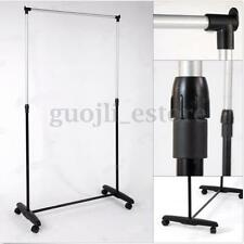 Adjustable Portable Heavy Duty Garment Rack Clothes Stand Hanger Mobile On Wheel