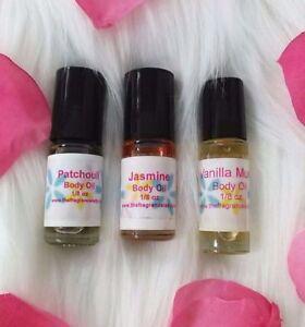 Patchouli Lavender Perfume Body Oil Fragrance 1/8 Oz Roll On One Bottle Dram