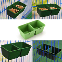 2 in 1 Parrot Food Water Bowl Cups Bird Pigeons Cage Sand Cup Feeding Feeder  D
