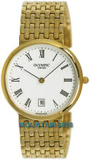 OLYMPIC Swiss Watches LTD,Swiss Made,S/Steel,Date,WR30,Gold Tone,Mens, 23052