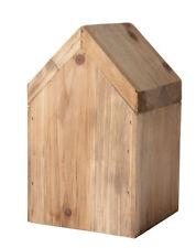 KJ COLLECTION Deko Haus aus dunklem Holz, M: ca. 9,5 x 9,5 x 16 cm