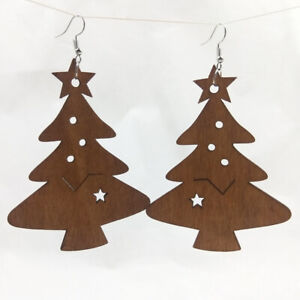 Good Quality Fashion Hollow Africa Woman Wooden Earrings Pendant 6.5*8.5cm E374