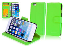 "GREEN Premium New Wallet Leather Case Cover For 5.5"" iPhone 6 Plus"