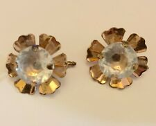Classic Round Crystals Cuff Links Lady Clear Crystals Cuff Link