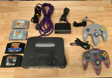 N64 System Bundle With Console Controllers Games Lot Nintendo 64 Tested Working