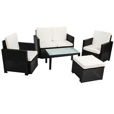 Gartenmöbel Polyrattan Lounge Gartenset Rattan Sitzgruppe Garnitur Tisch Samos