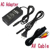 AC Adapter Power Supply & AV Cable Cord For Nintendo Gamecube New GC Charger