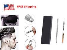 Salon Engraved Shaving Pen Hair Styling Beards 10 Blades 1 Set Beards Hair