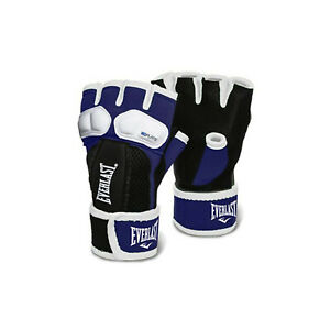 Everlast Prime EverGel Foam Padding Hand Wraps Gloves Size Medium, Navy Blue