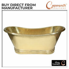 Hammered Brass Bathtub Full Brass Finish with Cascading Base- Handmade