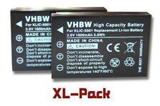 2x KAMERA Akku BATTERIE 1600mAh für SANYO Xacti HD1000 / HD1010