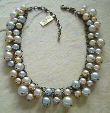 KONPLOTT Kette / Collier Salsa Internal light grey champagne / antique bronce
