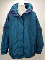 Columbia Womens Bugaboo 3 in 1 Interchange Winter Jacket Coat Size XL Teal Blue