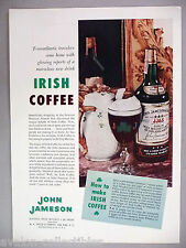 John Jameson Irish Whiskey PRINT AD - 1959 ~~ Irish Coffee recipe