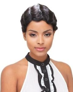 H/H MOMMY BY JANET COLLECTION 100% REMY HUMAN HAIR FULL WIG SHORT WAVY STYLE