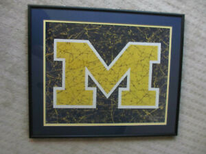 Rare University of Michigan Limited Edition Signed & Numbered Framed Lithograph