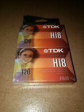 Tdk Digital 8/Hi8120 Camcorder Video Cassette Tape Two Pack