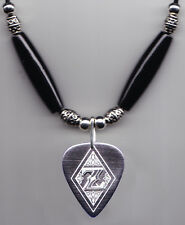 Zemaitis Silver Guitar Pick Necklace