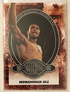 Muhammad Ali 2010 Ringside Boxing Round One 1 Base #100  BLACK ONYX Parallel 1/1