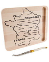 Jean Dubost Laguiole 2Pc Map Of France Cheese Set Multicolor