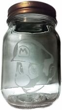 Mario -AirTight Glass Herb Stash Jar Wide Mouth Large container Mason Storage