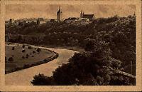 Wimpfen am Berg Ansichtskarte 1923 datiert Panoramablick mit Neckar Uferpartie