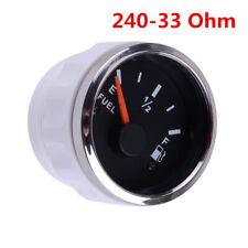52MM 240-33ohm Gas Fuel Level Gauge LED Oil Tank Monitor Indicator 12V 24V DC 1x