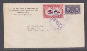 PANAMA, 1942 Censored cover to USA, 1c. & 2c.