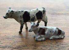 RARE VINTAGE 2X BRITAINS COWS CATTLE LEAD FIGURES FARM YARD